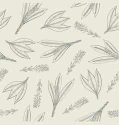 botanical seamless pattern with turmeric leaves vector image vector image