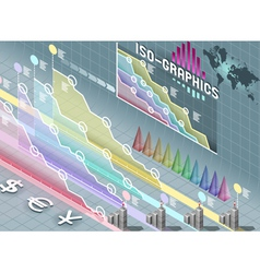 Isometric Infographic Set Elements with vector image
