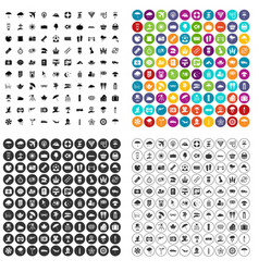 100 umbrella icons set variant vector