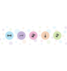 5 strength icons vector