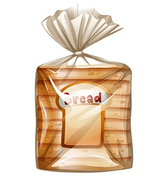 A pack of sliced bread vector image