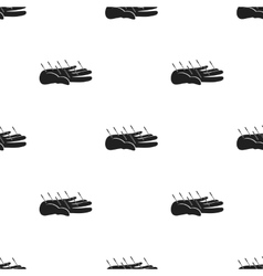 Acupuncture icon in black style isolated on white vector image