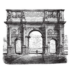 Arch of constantine is a triumphal arch in rome vector