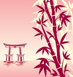 Asian landscape vector