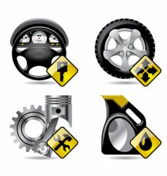 automobile service icons vector image