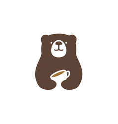 Bear coffee logo icon vector