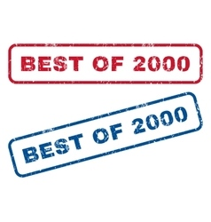 Best of 2000 rubber stamps vector