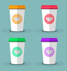 Blank coffee cup to represent your desing vector image