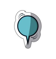 Blue sticker circular shape dialog box vector