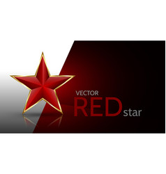 bright red 3d star vector image