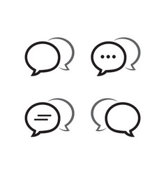 bubble chat outline icon pack vector image
