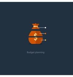 Budget cut structure investment plan financial vector image