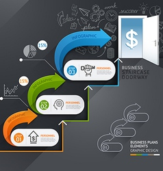 Business staircase doorway conceptual infographics vector image