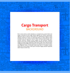 Cargo transport paper template vector