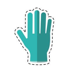 Cartoon surgery glove clean medical vector