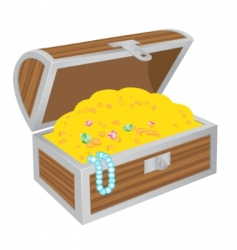 chest of treasures vector image