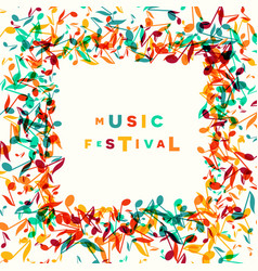 Colorful music festival notes background vector