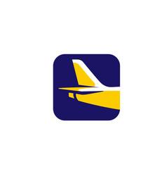creative box airplane frame air logo vector image