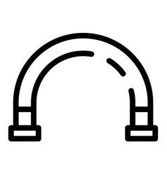 Curve pipe icon outline style vector
