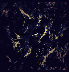 dark blue and gold marble seamless pattern texture vector image
