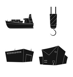 Design of goods and cargo sign collection vector