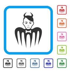 devil spectre framed sad icon vector image