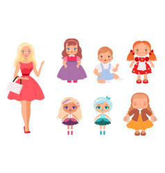 dolls for kids funny children toys male and vector image
