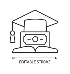 Education loan linear icon vector