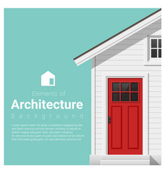 elements of architecture background vector image
