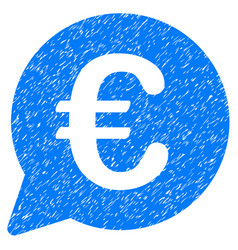 euro message bubble icon grunge watermark vector image