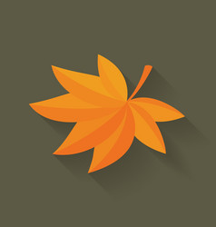 Fall maple leaf vector