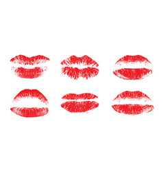 Female beautiful lips lipstick kiss vector