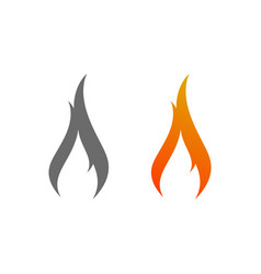 Fire logo sign icon vector