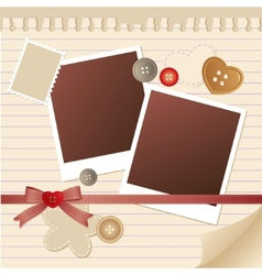 Frame for photos vector