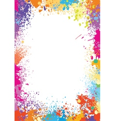 Frame template made of paint stains vector