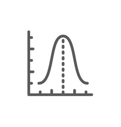 gauss histogram function graph parabola line icon vector image