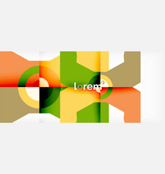 geometric colorful shapes composition abstract vector image
