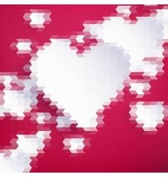 Geometric Mosaic Hearts Template EPS 10 vector image
