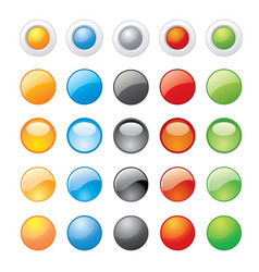 glossy glass button icon website vector image