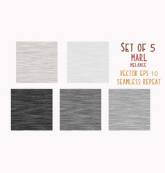 Gray marl heather texture background faux cotton vector