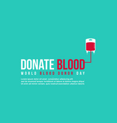Green background donate blood day collection vector