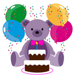 Happy birthday bear vector
