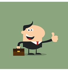 Happy Businessman Giving the Thumbs Up vector image