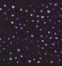 Heart and star pattern with spots seamless vector