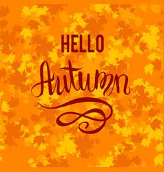 Hello autumn background vector