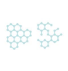 hormone hexagon structure molecule substance vector image