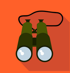 hunting binoculars flat and cartoon style vector image