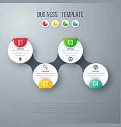 Infographics timeline template with circles vector