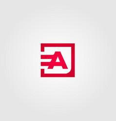 initial logo letter e a design icon vector image