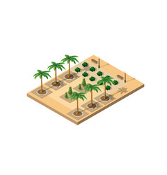 isometric 3d park vector image